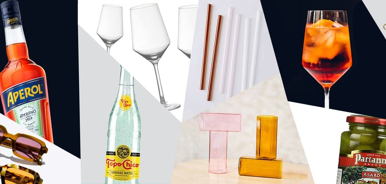 Your Summer Aperol Spritz Starter Pack, From Straws To Sparkling Wine