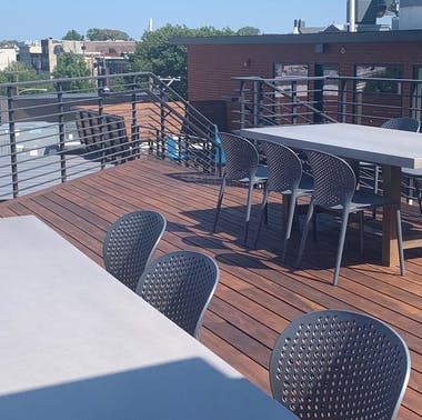 Emmy Squared Takes Over A Rooftop In Queen Village