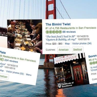"Rewriting TripAdvisor's ""Best Restaurants in San Francisco"" feature image"