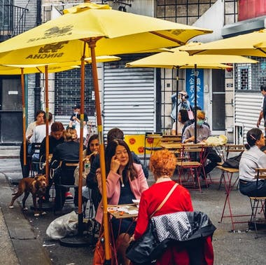 Where To Have Dinner In The Middle Of The Street In NYC